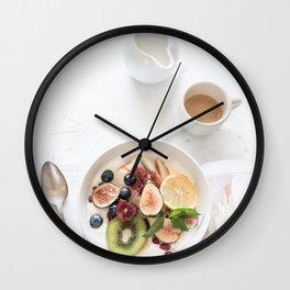 breakfast #buyart #society6 Wall Clock