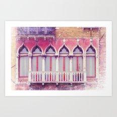FACADES OF VENICE Art Print