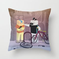 The Nick Yorkers in JUNE Throw Pillow