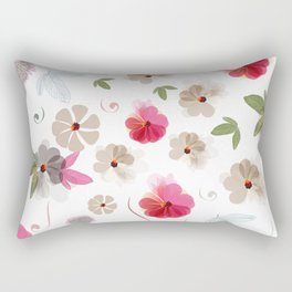 Cute soft spring pattern with flowers Rectangular Pillow