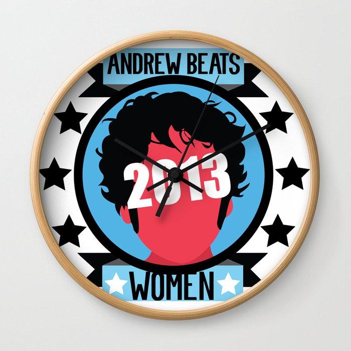 Andrew Beats Women Wall Clock