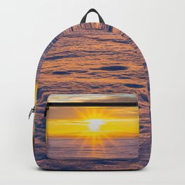 Winter sunset Backpack