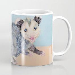 Happy Smiling Baby Opossum Watercolor Mixed Media Piece Coffee Mug