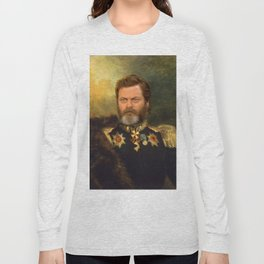 Nick Offerman Classical Painting Photoshop Long Sleeve T-shirt