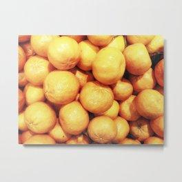 texture of mandarins Metal Print