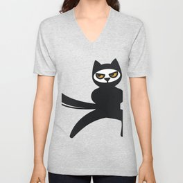 Funny Ninja Cats Catmom Gifts For Cat Lovers Unisex V-Neck