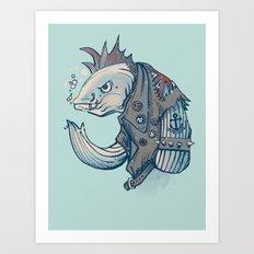 Punk Fish Art Print