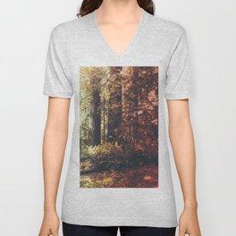 Beautiful California Redwoods Unisex V-Neck