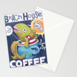 Beach House Coffee Stationery Cards