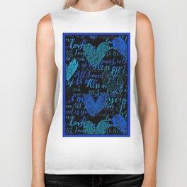Kiss Me, Miss me Blue Biker Tank