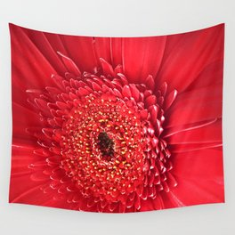 Red Dahlia Wall Tapestry