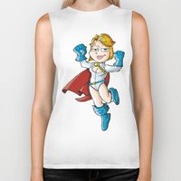 girl power Biker Tanks featuring Power Girl! by neicosta