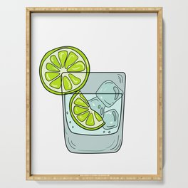 Funny & Relaxing Vodka Tee Design LEMONS AND VODKA Serving Tray