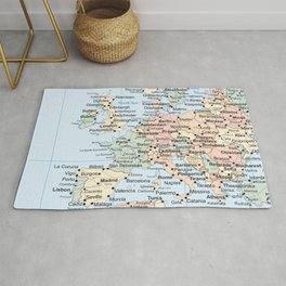 World Map Europe Rug