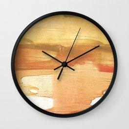 Peru colored watercolor design Wall Clock