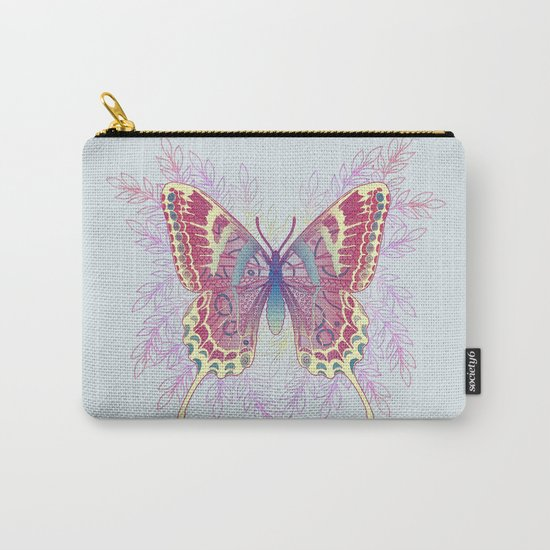 Beautiful Colorful Butterfly Design Carry-All Pouch
