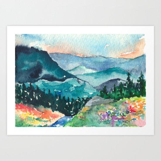 Valley of Dreams Art Print