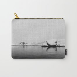 Iceland Black And White #society6 #home #decor Carry-All Pouch