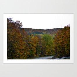 Fall Color Scenic Overlook Art Print