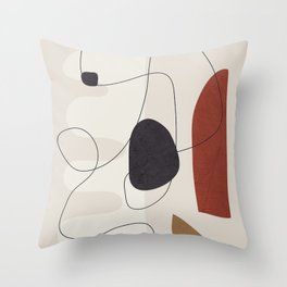 Abstract Minimal Shapes 27 Throw Pillow