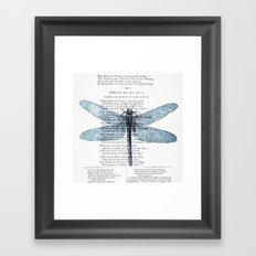 Dragonfly Poet Framed Art Print