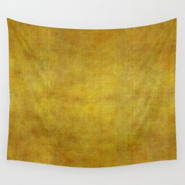 """Gold & Ocher Burlap Texture"" Wall Tapestry"