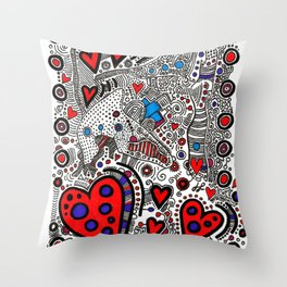 """Connected"" Throw Pillow"