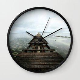Faded planks Wall Clock