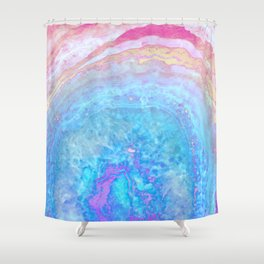 Into The Ether Agate Geode Shower Curtain