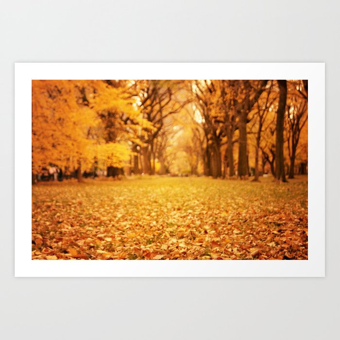 Autumn Leaves - New York City Art Print