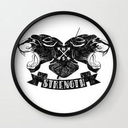 Panther Strength Wall Clock