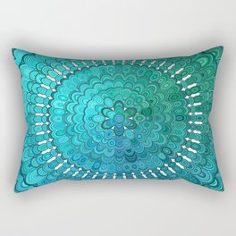 Turquoise Mandala Rectangular Pillow