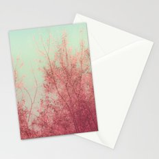 Harmony (Mint Blue Sky, Coral Pink Plants) Stationery Cards