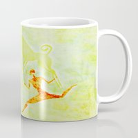 hunting Mugs featuring Hunting by LoRo  Art & Pictures