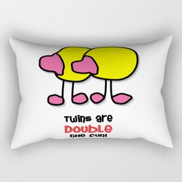 Twins Are Double The Fun! Rectangular Pillow