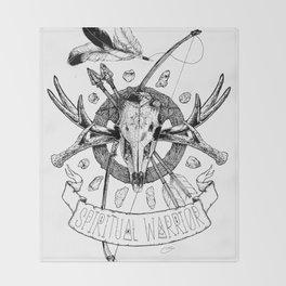 Spiritual Warrior Throw Blanket