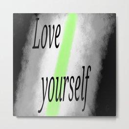 Love yourself - Agender Metal Print