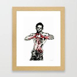 Happy Halloween from your killer Framed Art Print