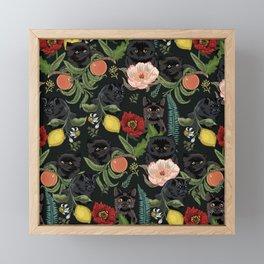 Botanical and Black Cats Framed Mini Art Print