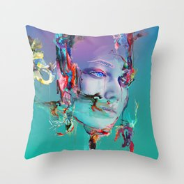 Deep Reality of Here Throw Pillow