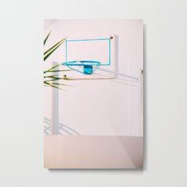 Santorini Basketball Metal Print