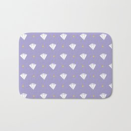 Diamonds - purple pattern Bath Mat