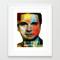 depeche mode Framed Art Prints featuring BARREL OF A GUN (Dave Gahan of Depeche Mode) by Art By MOP$