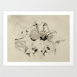 Black Hibiscus Art Print