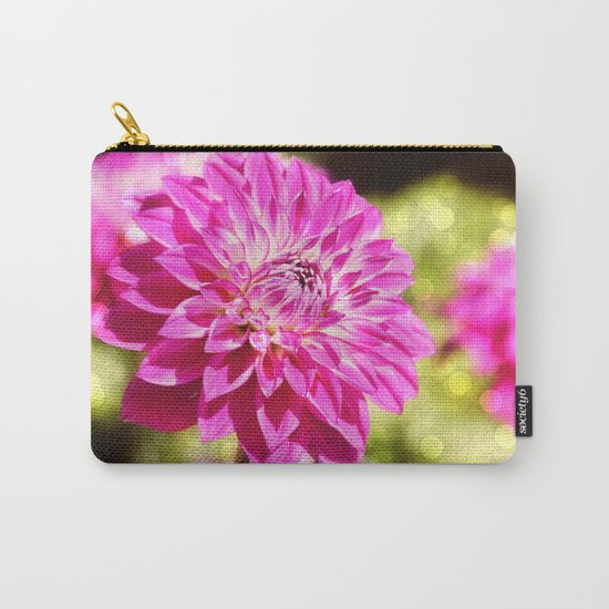 Pink dahlia on shiny day Carry-All Pouch