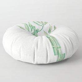Green bamboo watercolor Floor Pillow