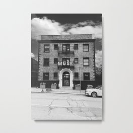 MUSE Black and White Metal Print