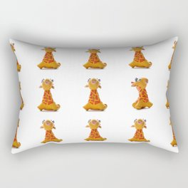 Orange Giraffe Rectangular Pillow