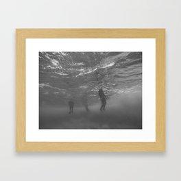 Lifeless Bodies Drown (Black and White) Framed Art Print