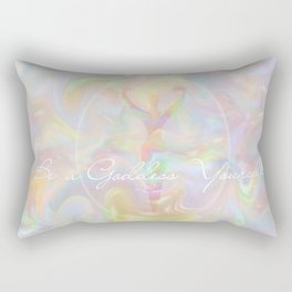 Be a Goddess Yourself Rectangular Pillow